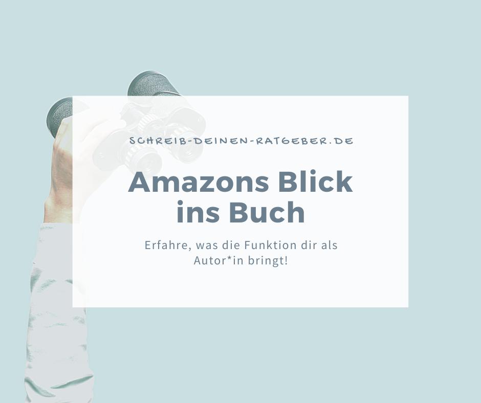 Was dir Amazons Blick ins Buch bringt