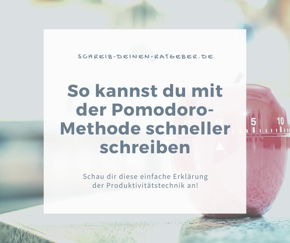 Die Pomodoro-Methode fürs Schreiben nutzen